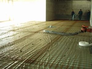 előkészített ipari padló